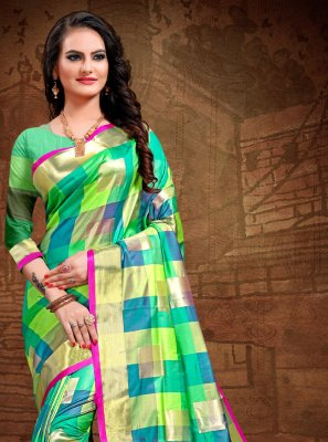 Art Silk Woven Trendy Saree