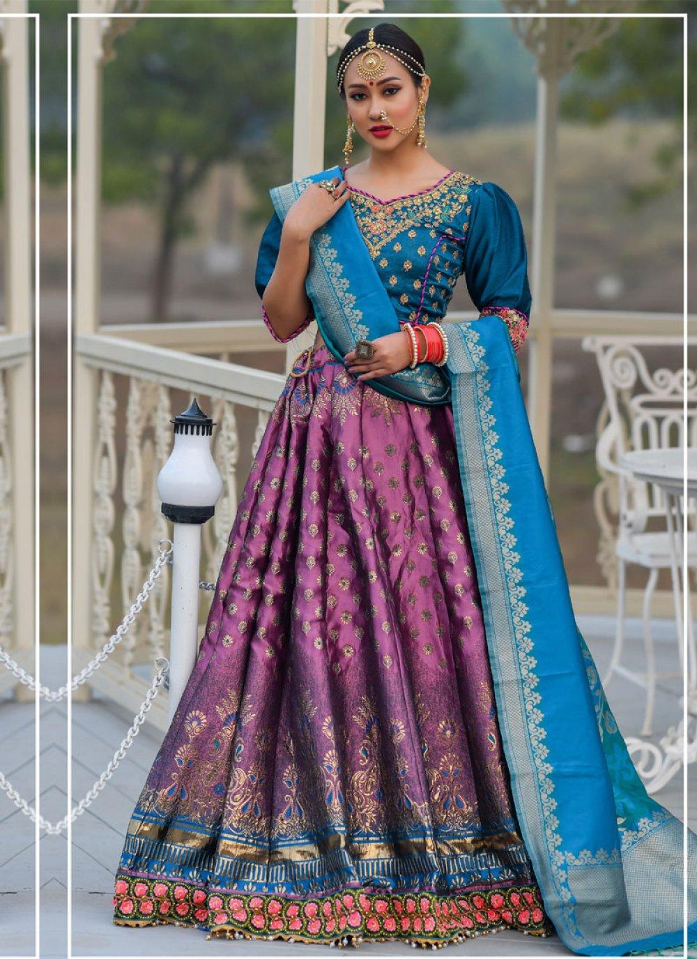 Banarasi Silk Ceremonial Designer A Line Lehenga Choli