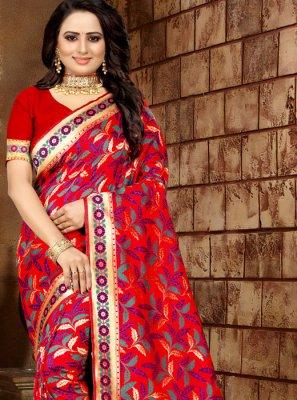 Banarasi Silk Classic Designer Saree in Multi Colour