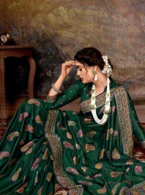 Banarasi Silk Digital Print Trendy Saree
