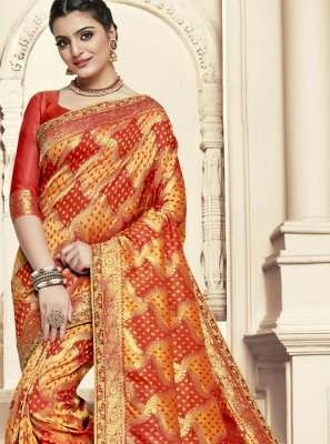 Banarasi Silk Dori Work Designer Traditional Saree