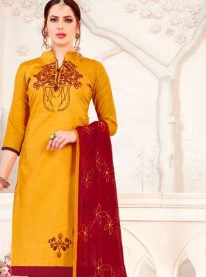 Banarasi Silk Embroidered Salwar Suit