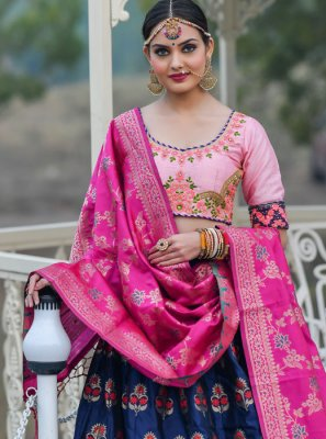 Banarasi Silk Engagement Designer A Line Lehenga Choli