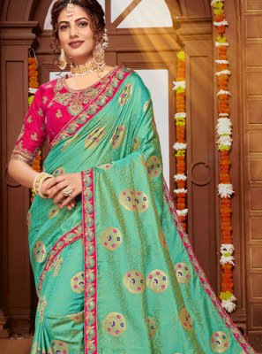 Banarasi Silk Green Designer Saree