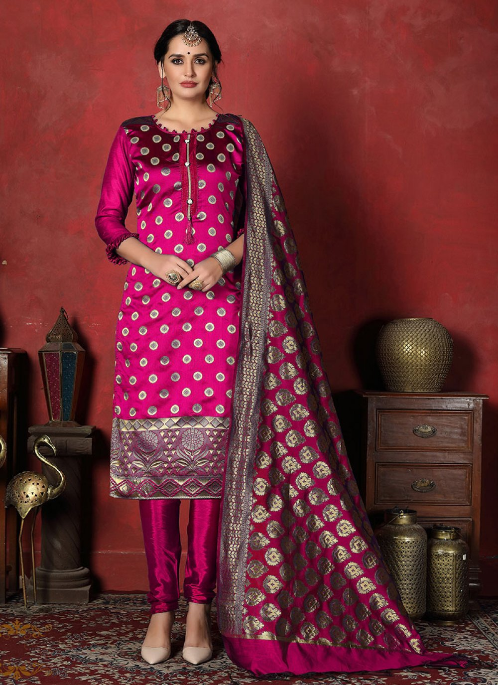 Banarasi Silk Party Salwar Suit