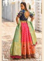 Banarasi Silk Pink Bollywood Lehenga Choli