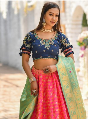 Banarasi Silk Pink Bollywood Lehenga Choli