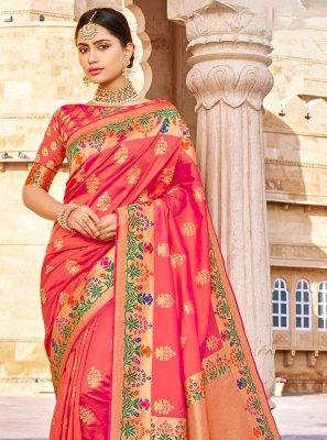Banarasi Silk Pink Classic Saree