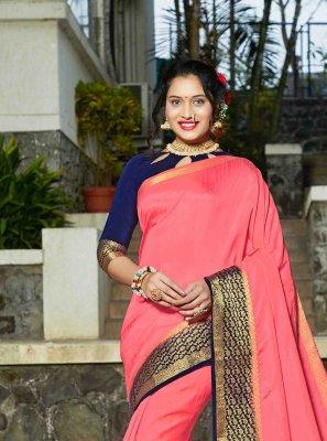 Banarasi Silk Pink Silk Saree