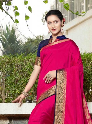 Banarasi Silk Pink Weaving Silk Saree