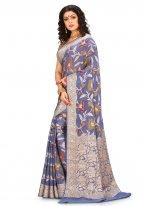 Banarasi Silk Purple Weaving Bollywood Saree