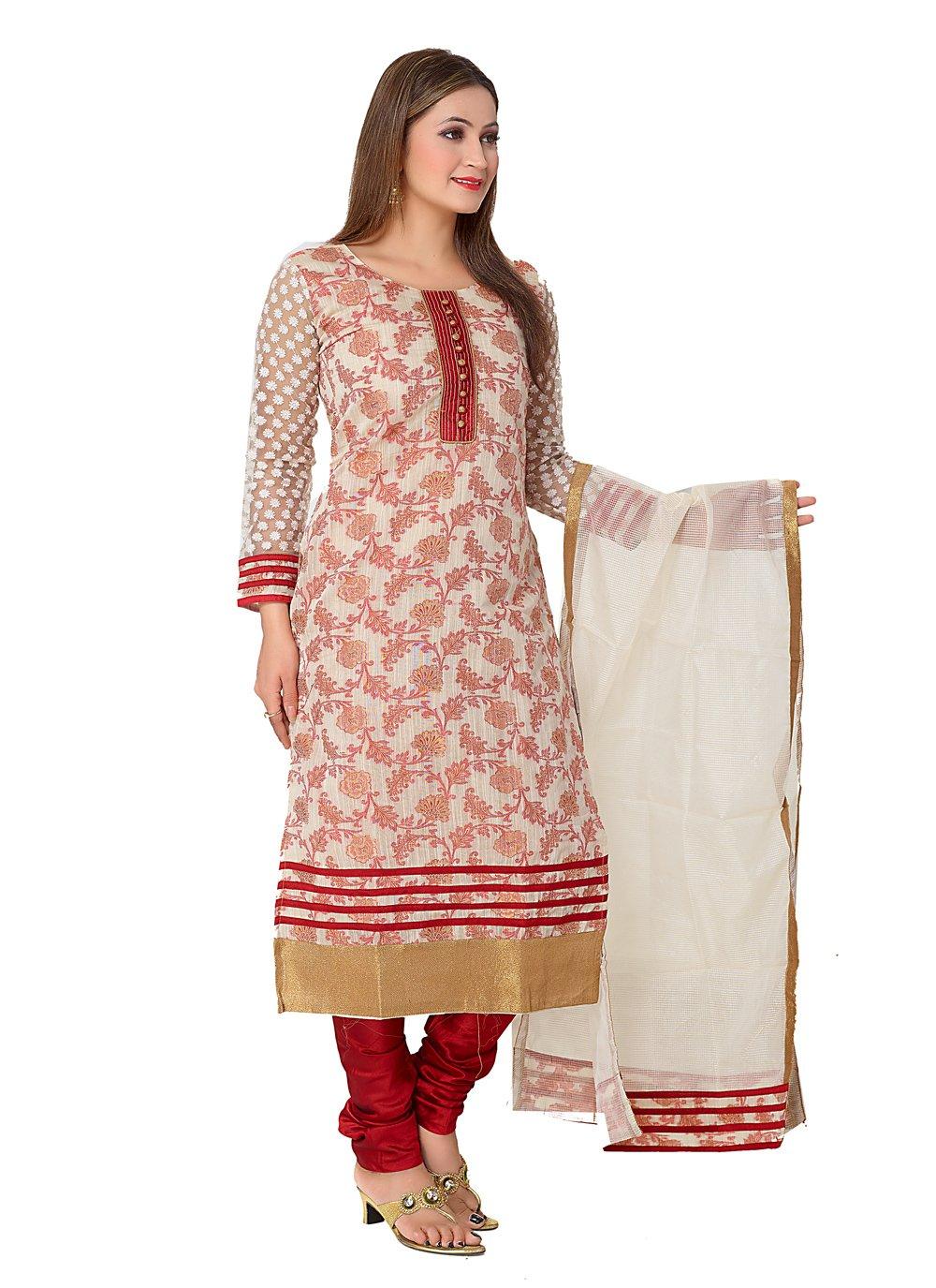 Banarasi Silk Readymade Designer Salwar Suit in Red