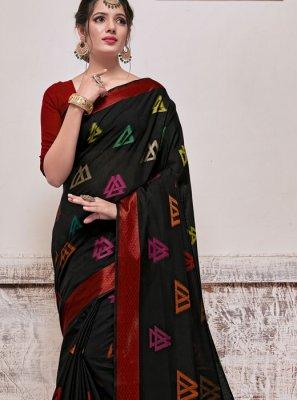 Banarasi Silk Weaving Black Silk Saree