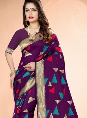 Banarasi Silk Weaving Classic Designer Saree in Purple