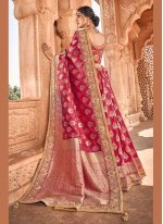 Banarasi Silk Weaving Magenta Traditional Saree