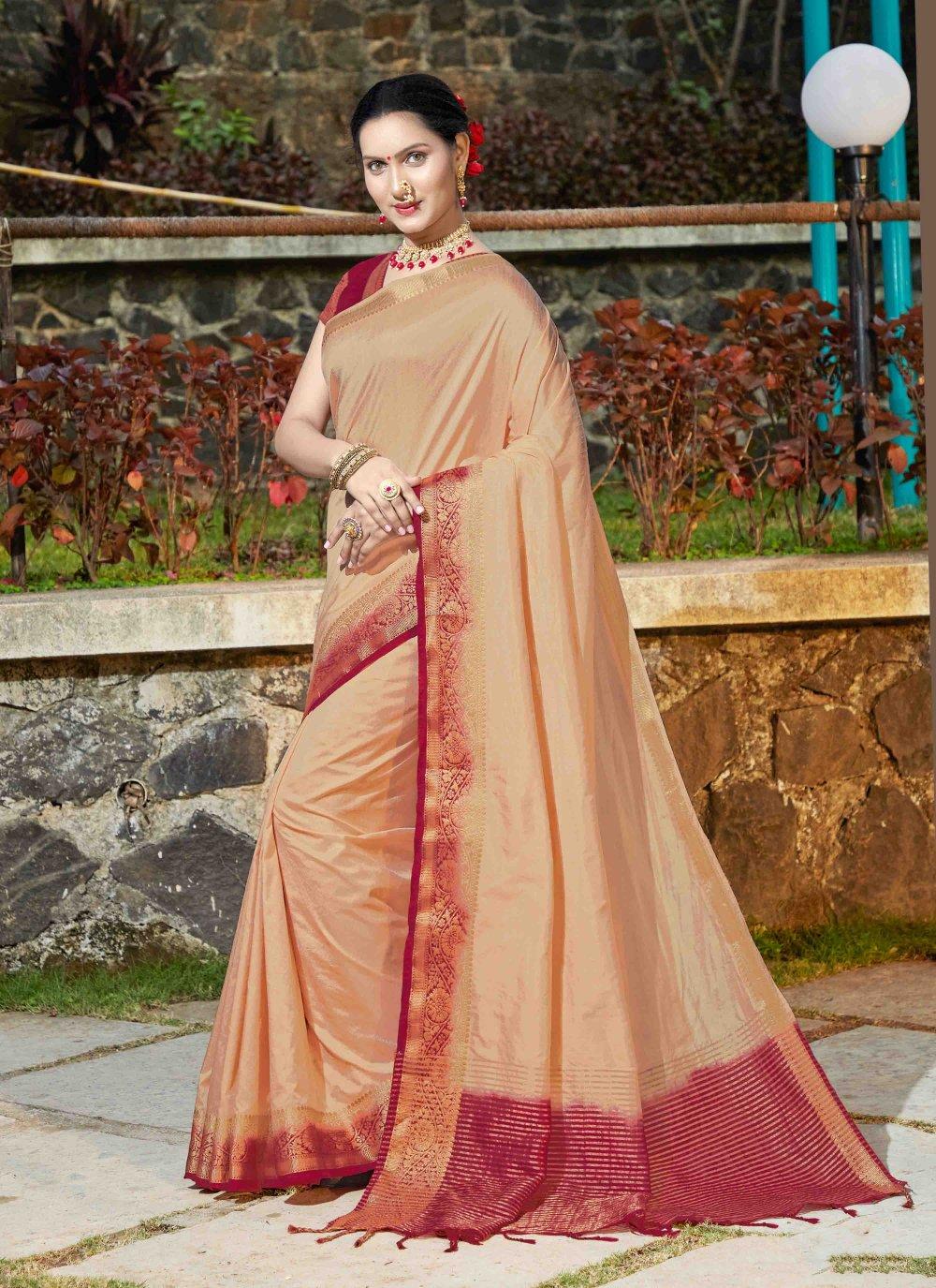 Banarasi Silk Weaving Silk Saree in Beige