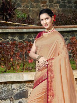 Banarasi Silk Weaving Silk Saree in Beige