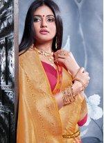 Banarasi Silk Weaving Traditional Saree in Pink