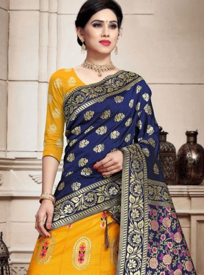 Banarasi Silk Weaving Trendy Lehenga Choli