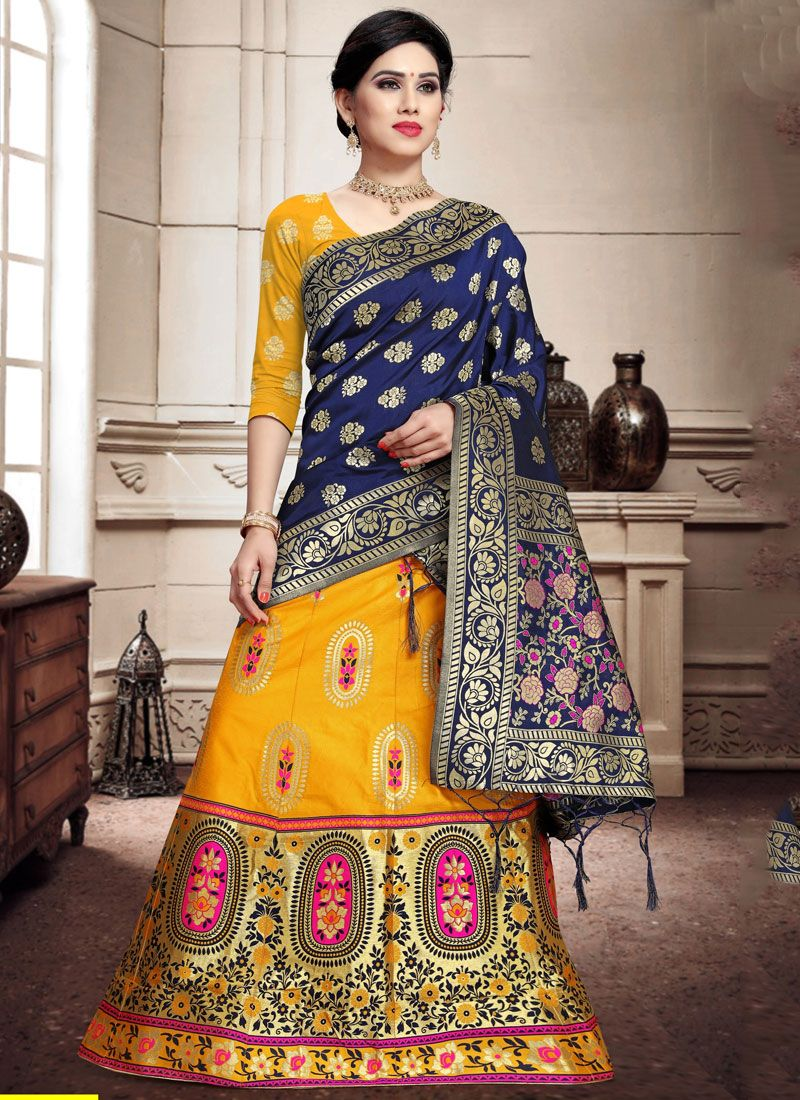 Banarasi Silk Weaving Trendy Lehenga Choli