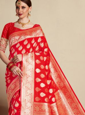 Banarasi Silk Wedding Classic Designer Saree