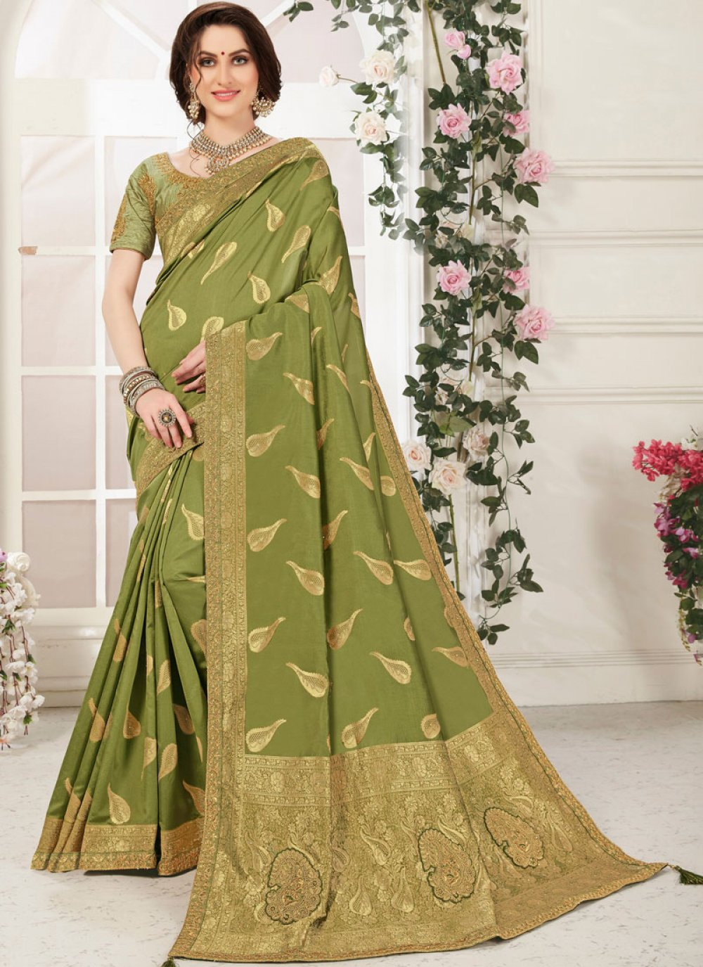 Banarasi Silk Zari Classic Designer Saree
