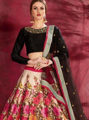 Banglori Silk Cream Zari Designer Lehenga Choli