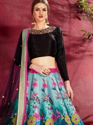 Banglori Silk Floral Print A Line Lehenga Choli