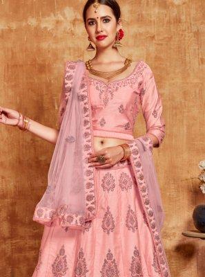 Banglori Silk Pink Lehenga Choli