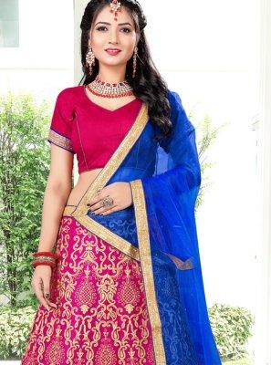 Banglori Silk Zari Pink Lehenga Choli