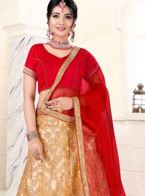 Beige Banglori Silk Mehndi Lehenga Choli