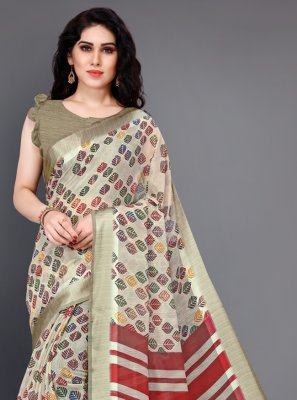Beige Casual Saree