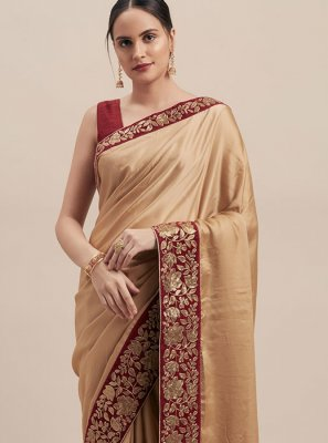 Beige Color Traditional Saree
