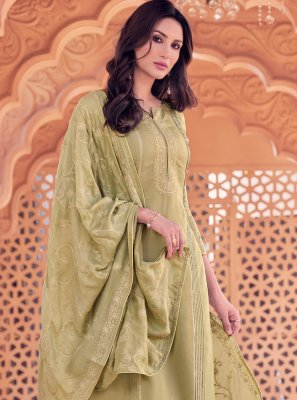 Beige Color Trendy Straight Salwar Suit