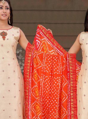 Beige Designer Salwar Suit