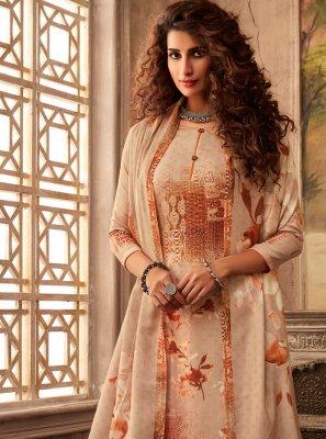 Beige Pashmina Festival Salwar Suit