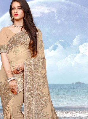 Beige Reception Designer Saree