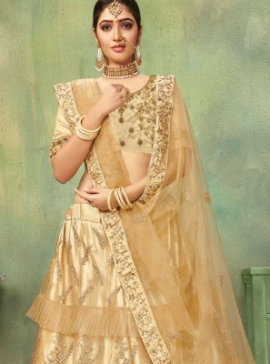 Beige Reception Lehenga Choli