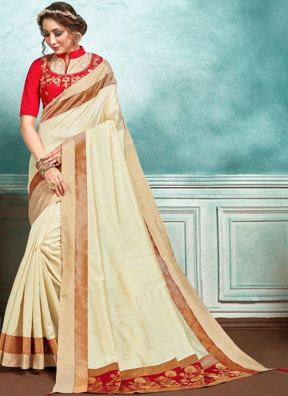 Beige Sangeet Designer Saree