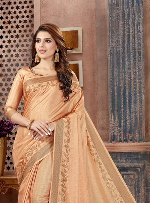 Beige Weaving Classic Saree