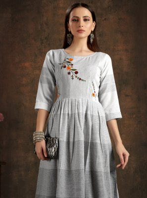 Black Casual Cotton Designer Kurti