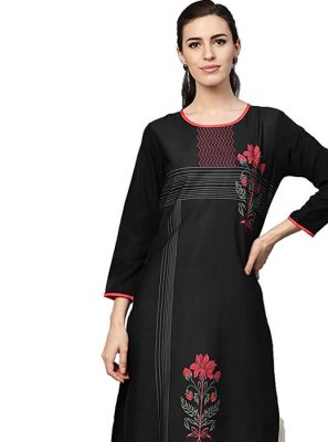 Black Color Casual Kurti