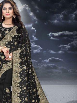Black Color Classic Designer Saree