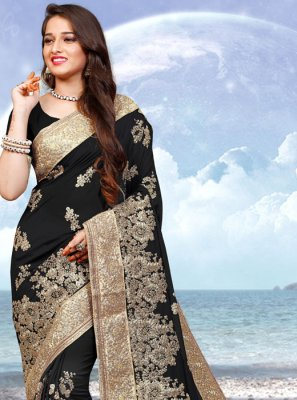 Black Color Contemporary Saree