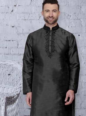 Black Color Kurta Pyjama