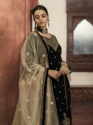 Black Color Readymade Salwar Suit