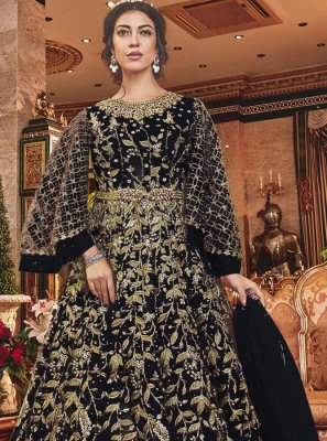 Black Embroidered Anarkali Salwar Kameez