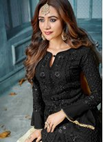Black Embroidered Designer Salwar Kameez