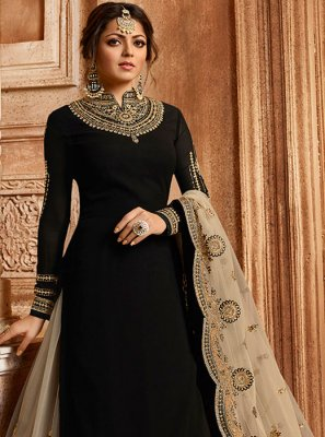 Black Embroidered Festival Lehenga Choli