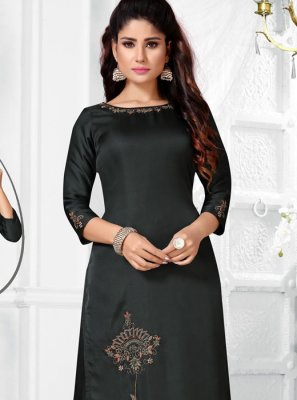 Black Embroidered Salwar Suit